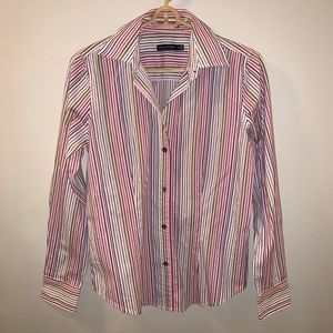 The Limited Striped Button Down Blouse